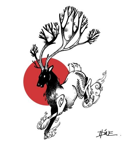 cerf rouge 1